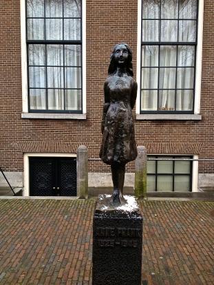 Anne Frank Statue - Amsterdam 2013